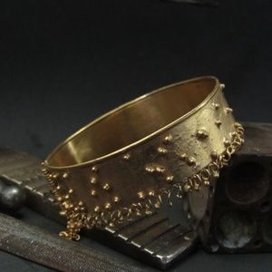 Starling silver gold plated bracelet.Unique